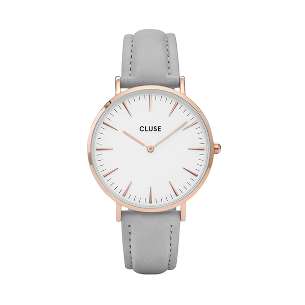 Zegarek damski cluse la boheme rose gold white grey cl18015