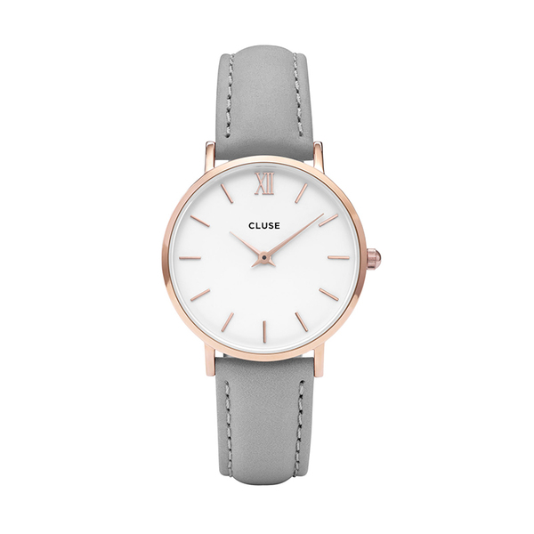 Zegarek damski cluse minuit rose gold white grey cl30002