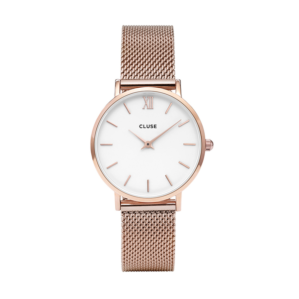 Zegarek damski cluse minuit rose gold white rose gold cl30013