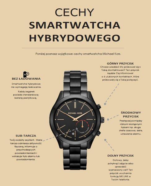 Michael kors smartwatch hybrydowy zegarek damski cechy