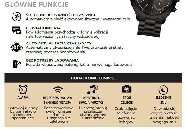 Smartwatch hybrydowy michael kors zegarek damski funkcje