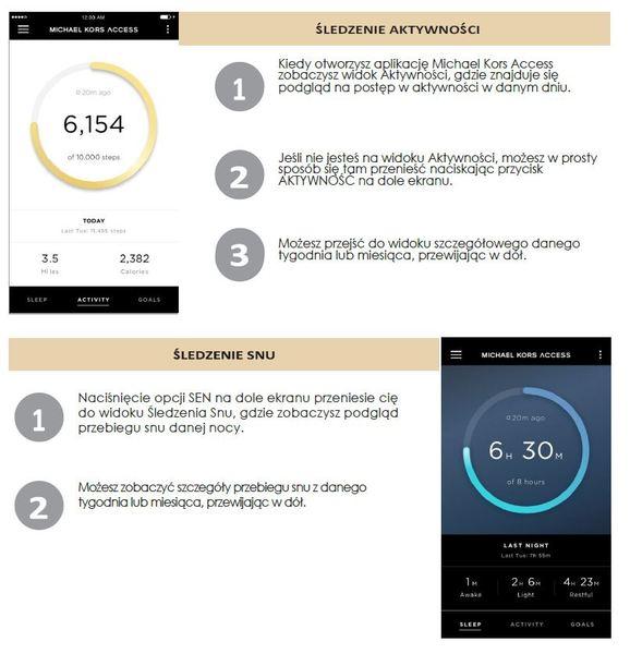 Smartwatch hybrydowy michael kors zegarek damski %c5%9aledzenie aktywno%c5%9aci i snu