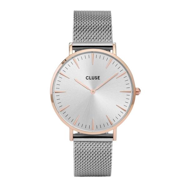 Cluse la boheme mesh rose gold silver moj zegarek