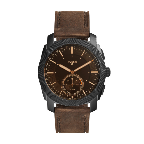 Smartwatch hybrydowy fossil q machine brown ftw1163