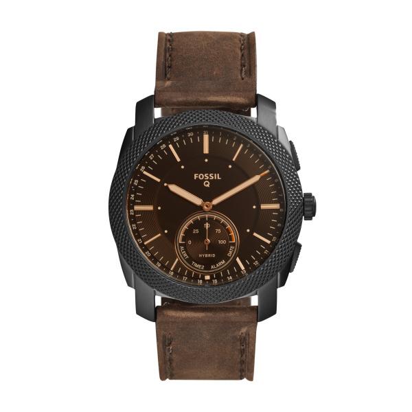 Smartwatch hybrydowy fossil q machine brown ftw1163