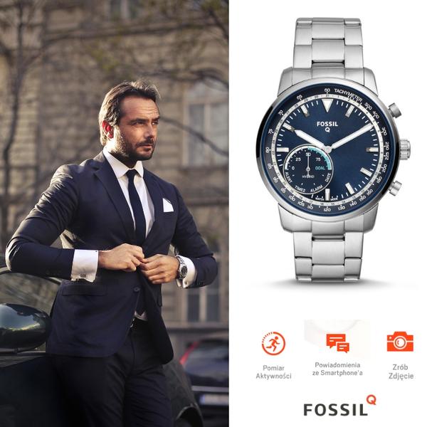 Smartwatch zegarek hybrydowy meski fossil q ftw1173