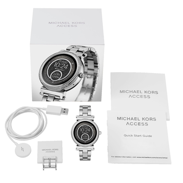 Smartwatch michael kors sofie srebrny zestaw mkt5020