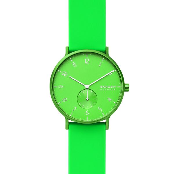Zegarek unisex skagen aaren kulor neon green skw6556 zielony neonowy