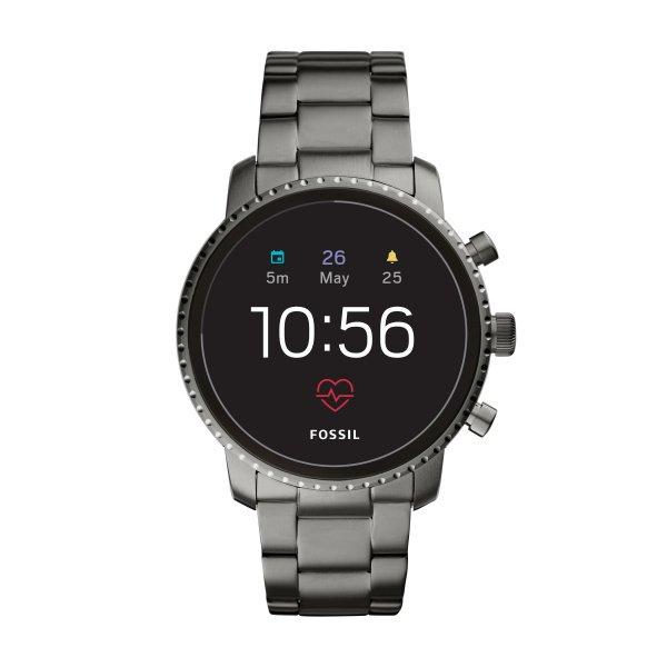 Smartwatch fossil m%c4%99ski ftw4012 szary na bransolecie 4 generacja front