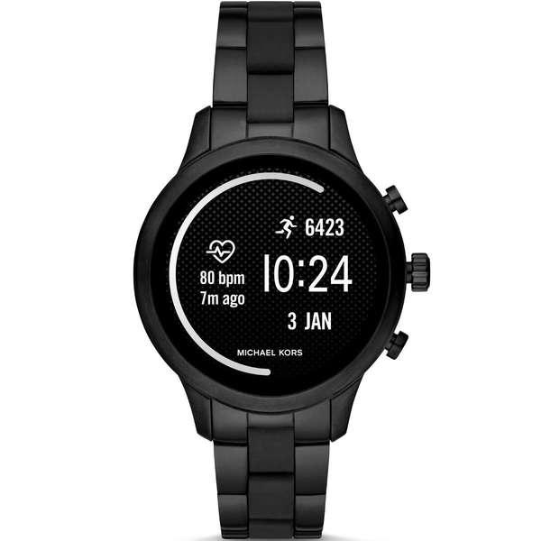 Smartwatch michael kors runway mkt5058 czarny pomiar aktywnosci