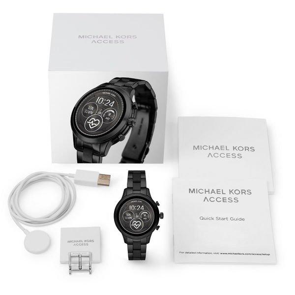 Smartwatch michael kors runway mkt5058 czarny  ladowarka