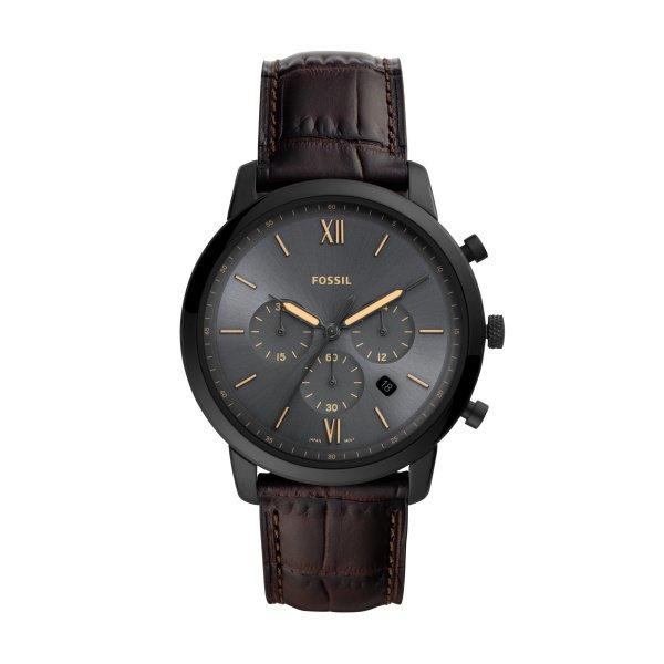 Zegarek fossil fs5579 neutra chrono brazowy paek