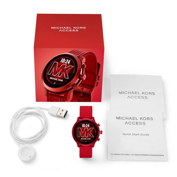 Smartwatch michael kors mkgo czerwony mkt5073 opakowanie