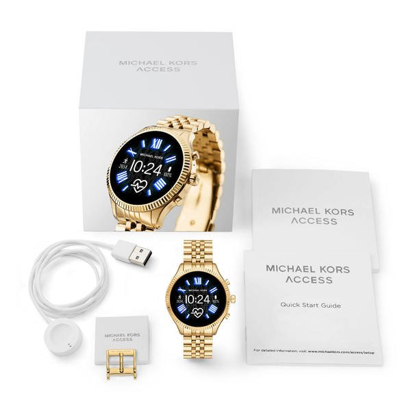 Smartwatch michael kors lexington zloty mkt5078  zestaw