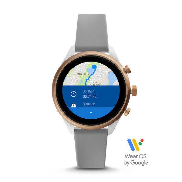 Smartwatch fossil sport ftw6025 szary gps