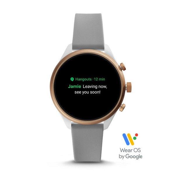 Smartwatch fossil sport ftw6025 szary powiadomienia