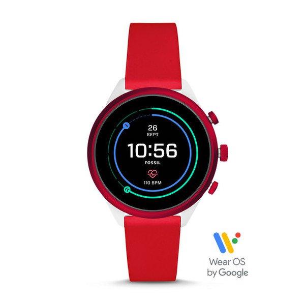 Smartwatch fossil sport czerwony ftw6052