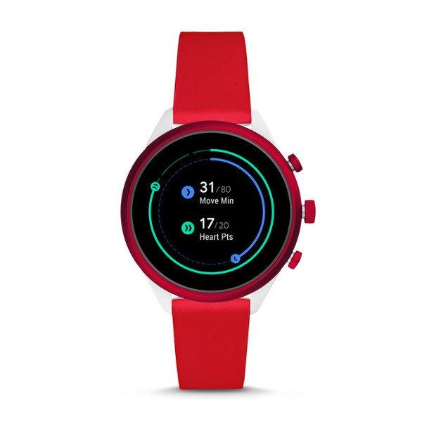 Smartwatch fossil sport czerwony ftw6052 pomiar aktywnosci