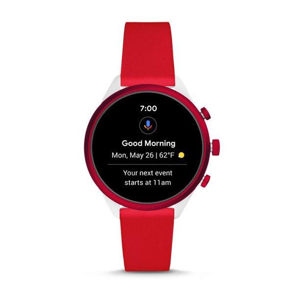 Smartwatch fossil sport czerwony ftw6052 funkcje