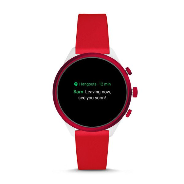 Smartwatch fossil sport czerwony ftw6052 powiadimienia