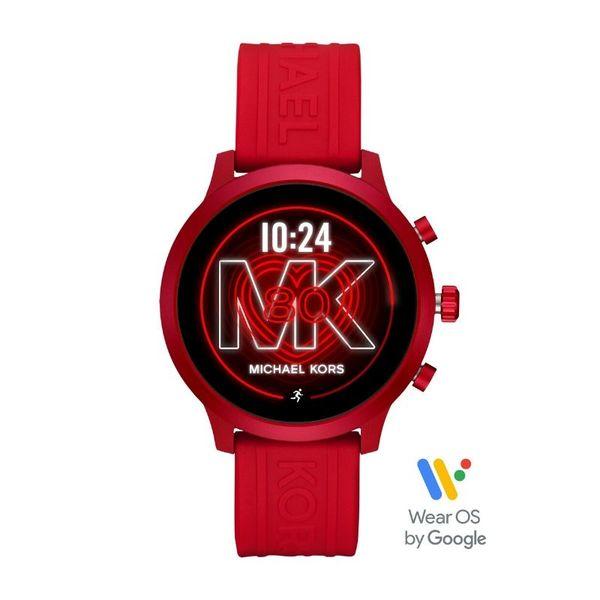 Smartwatch michael kors czerwony sportowy mkt5073
