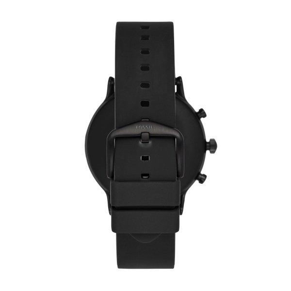 Najnowszy smartwatch fossil meski 5 generacja czarny ftw4025 na silikownowym pasku