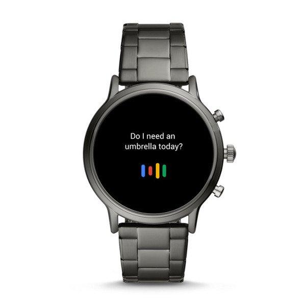 Najnowszy smartwatch fossil meski 5 generacja grafitowy na bransolecie ftw4024