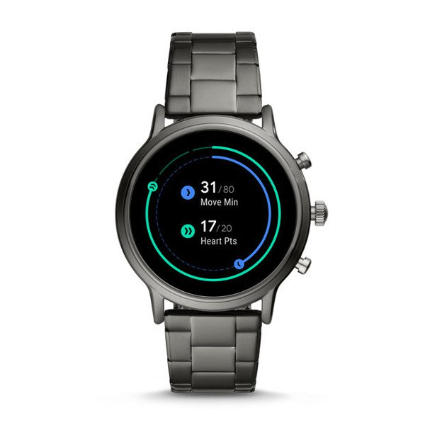Najnowszy smartwatch fossil meski 5 generacja grafitowy na bransolecie ftw4024 pomiar aktywnosci