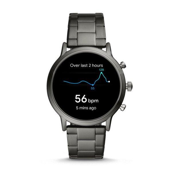 Najnowszy smartwatch fossil meski 5 generacja grafitowy na bransolecie ftw4024 gps