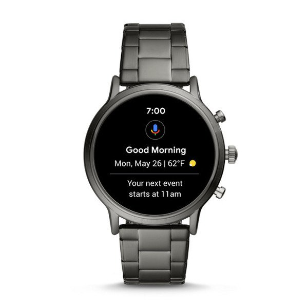 Najnowszy smartwatch fossil meski 5 generacja grafitowy na bransolecie ftw4024 mikrofon