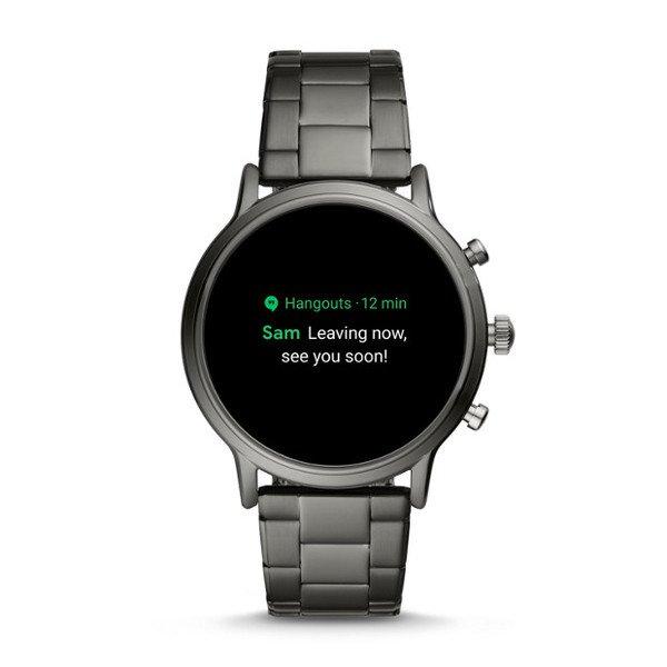 Najnowszy smartwatch fossil meski 5 generacja grafitowy na bransolecie ftw4024 wiadomosci