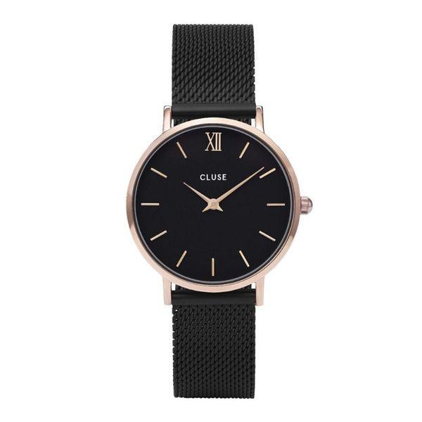 Zegarek cluse czarna bransoleta czarna tarcza cw0101203024