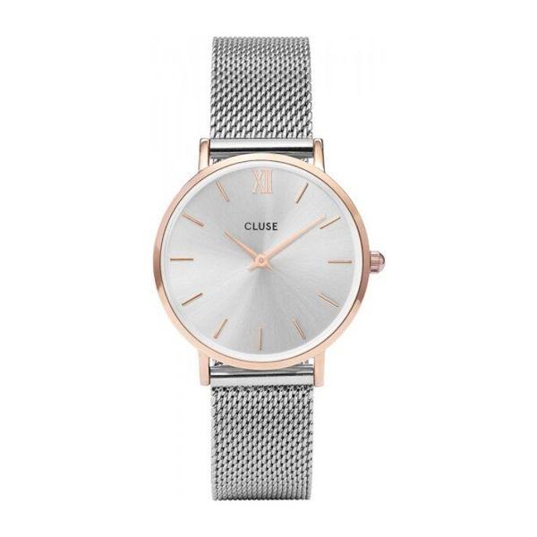 Zegarek cluse minuit srebrny srebrna tarcza cw0101203004
