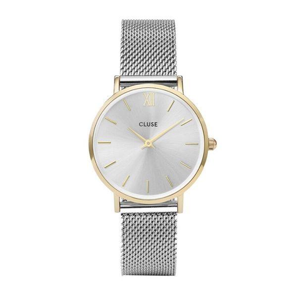 Zegarek cluse minuit srebrny ze zlotym cw0101203015