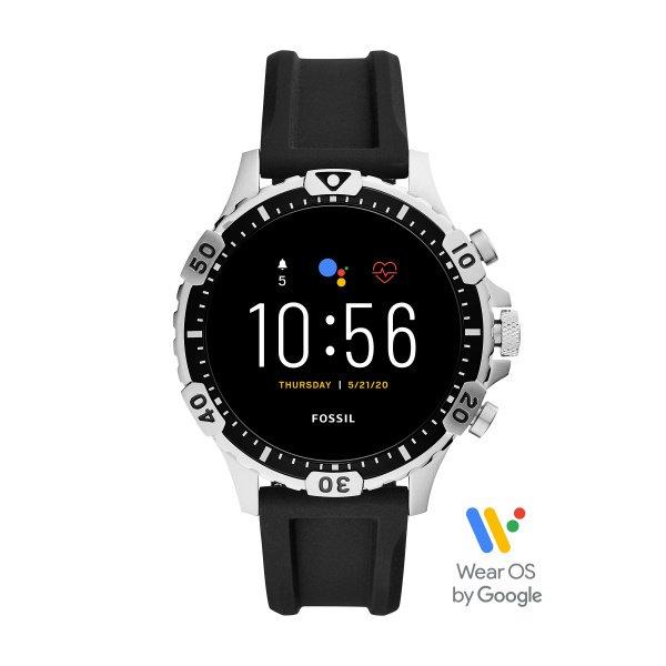 Smartwatch fossil ftw4041 5 generacja srebrny silikonowy pasek najnowszy