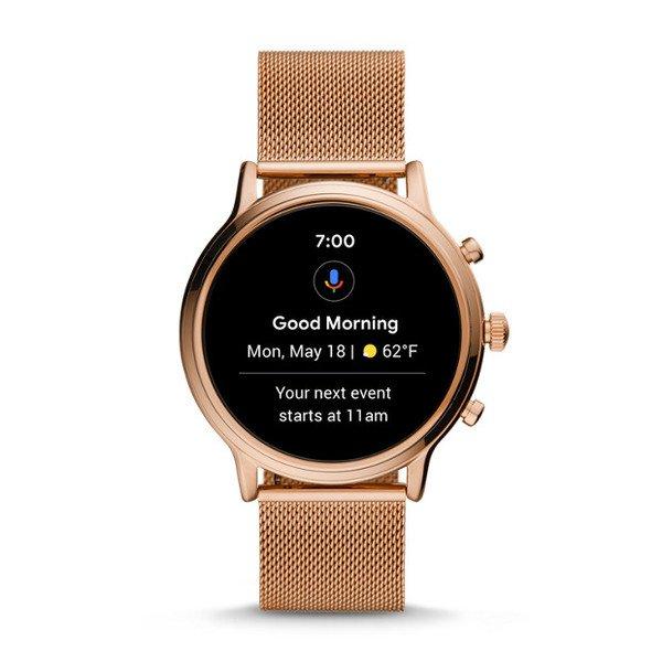 Smartwatch fossil damski ftw6062 rose gold bransoleta powiadomienia