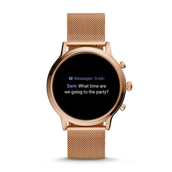 Smartwatch fossil damski ftw6062 rose gold bransoleta wiadomosci