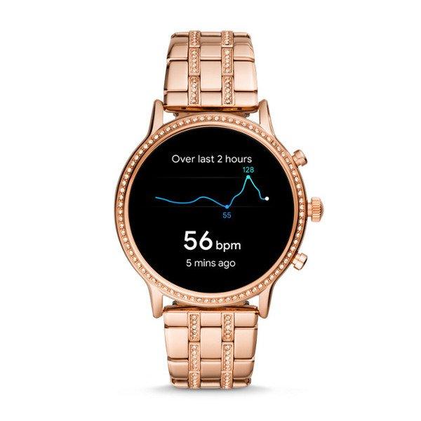 Smartwatch fossil damski ftw6035 z krysztalkami gps