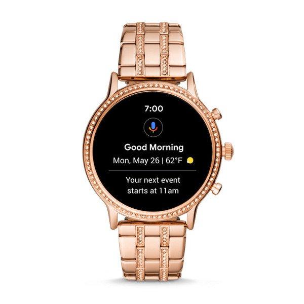 Smartwatch fossil damski ftw6035 z krysztalkami powiadomeinia
