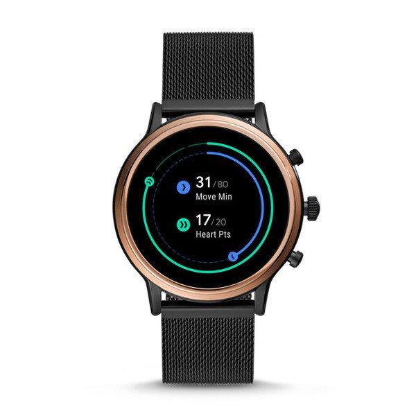 Smartwatch fossil damski ftw6036 czarny aktywnosc