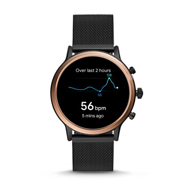 Smartwatch fossil damski ftw6036 czarny mapy