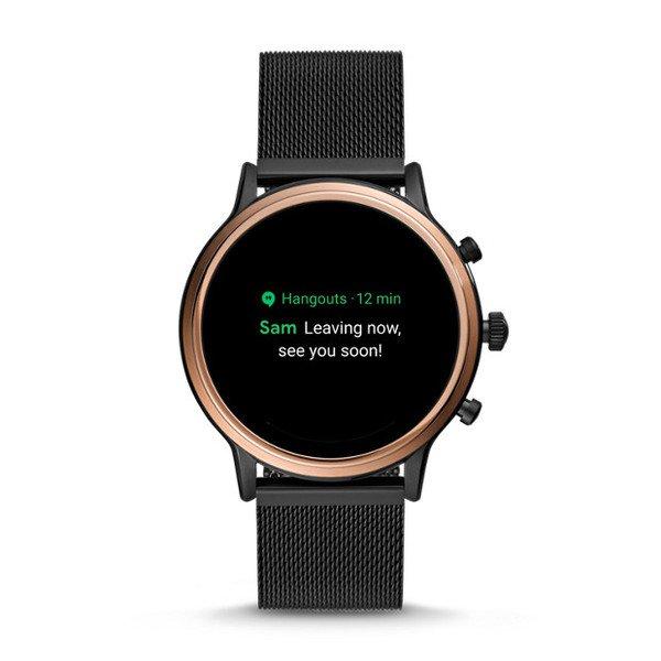 Smartwatch fossil damski ftw6036 czarny wiadomosci