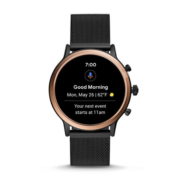 Smartwatch fossil damski ftw6036 czarny powiadomienia platnosc