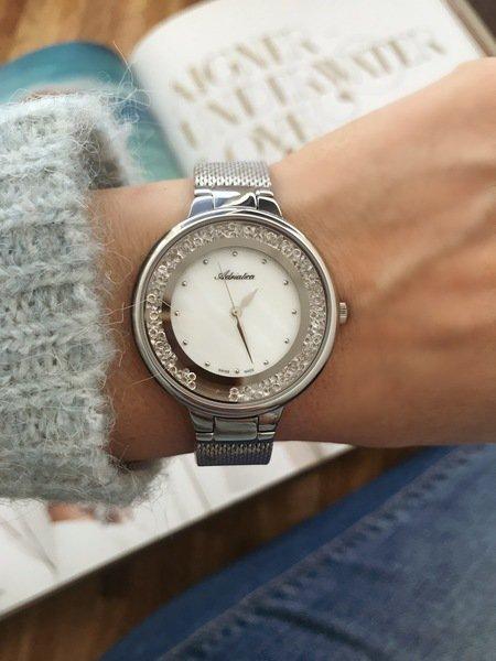 Zegarek adriatica damski srebrny  z krysztalkami a3720.514fqz