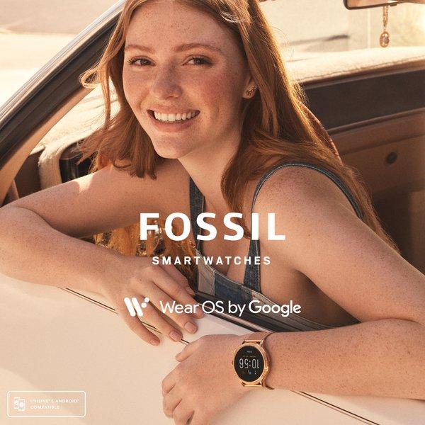 Smartwatch fossil damski ftw6062 gen 5 julianna rose gold bransoleta mesh