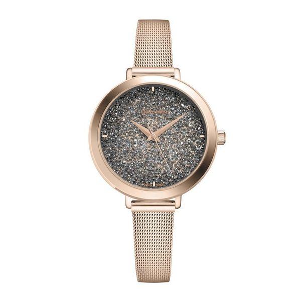 Zegarek damski adriatica czarna tarcza z krysztalkami a3787.9116q