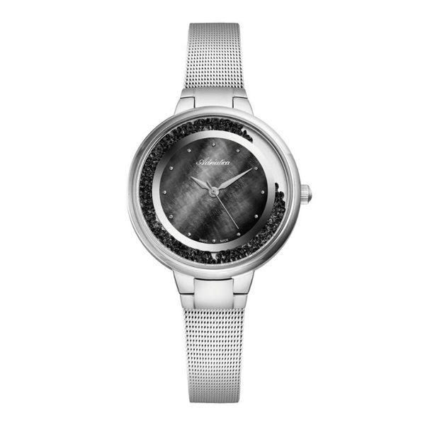 Zegarek adriatica srebrny z czarnymi kryszta%c5%82kami a3720.514mqz