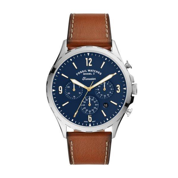 Zegarek meski fosil niebieska tarcza fs5607