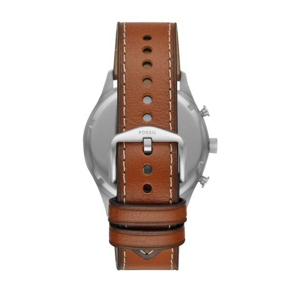 Zegarek meski fosil niebieska tarcza fs5607 brazowy pasek