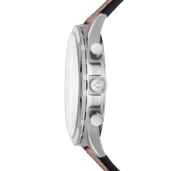 Zegarek meski fosil niebieska tarcza fs5607 srebrna koperta
